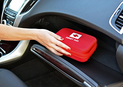 First-Aid-Kit-for-Car-106-Piece-Emergency-Medical-Hard-Shell-Kits-From-Verco-Auto-Packed-with-Essential-Survival-Items-Travel-Case-Fits-in-Glovebox-or-Trunk-FREE-CPR-eBook-0-2