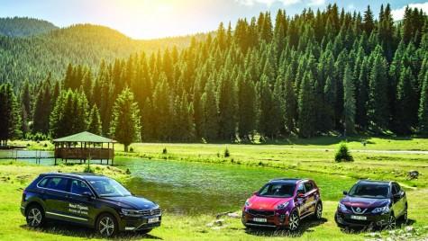 Test drive Kia Sportage vs Nissan Qashqai vs VW Tiguan