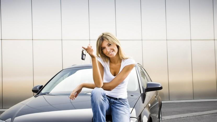 audi-woman mașina
