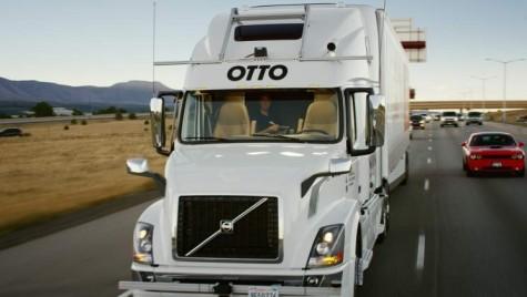 Primul transport de marfa cu un camion fara sofer