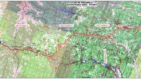Harta autostrada Sibiu-Pitesti: VEZI TRASEUL FINAL