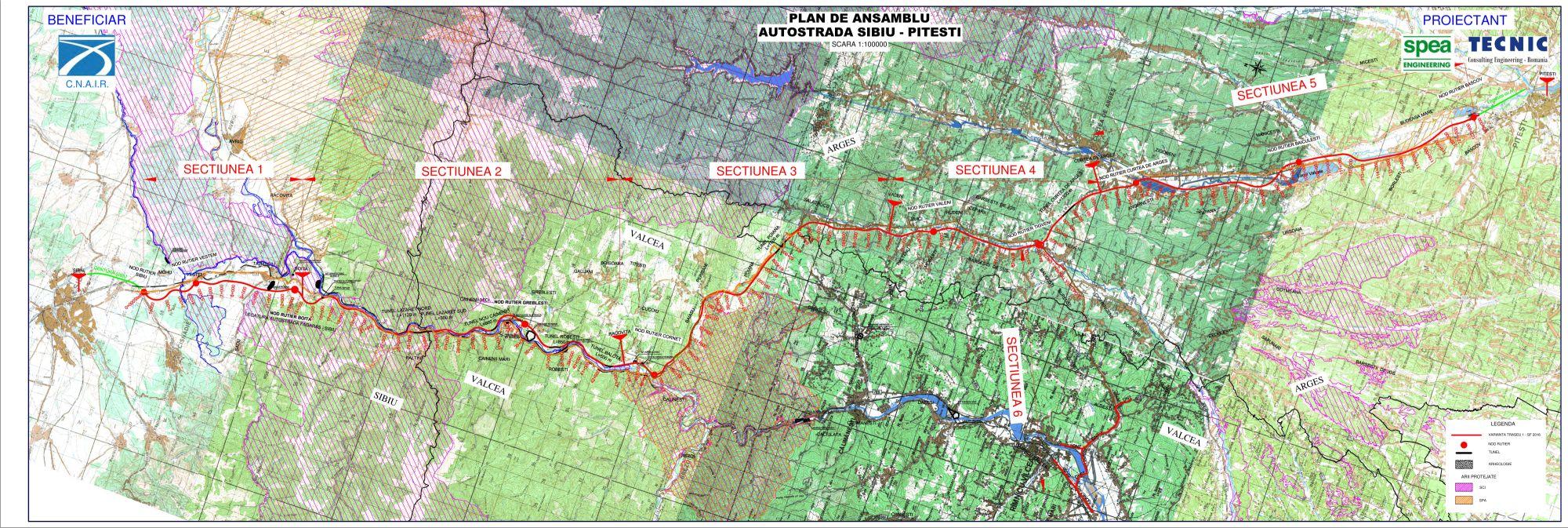 Harta Autostrada Sibiu Pitesti Vezi Traseul Final Autoexpert