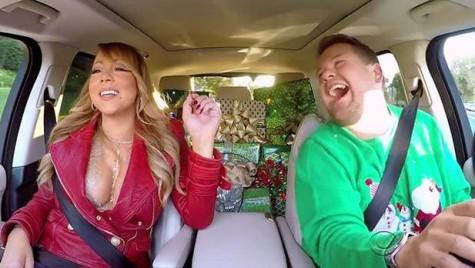 """""""All I want for Christmas…"""" – Mariah Carey cântă în mașină cu James Corden"""