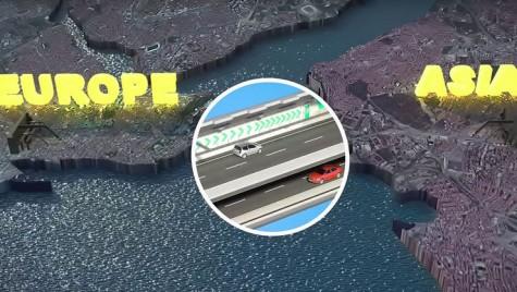 Tunelul Eurasia leagă Asia de Europa, pe sub Bosfor