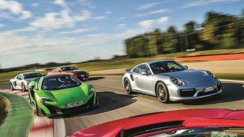 Test drive McLaren 675 LT vs Porsche 911 Turbo S vs Ferrari 488 GTB vs Audi R8 PLUS vs Nissan GT-R