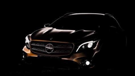 PRIMUL TEASER: Mercedes-Benz GLA facelift vine la Detroit