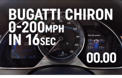 Spectacol: Cum accelerează Bugatti Chiron, hypercar-ul de 1.500 CP
