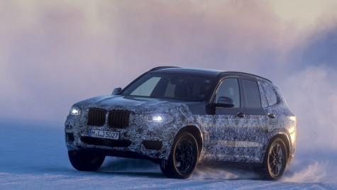 Primele imagini cu noul BMW X3, la testele de iarnă