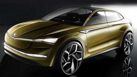 Skoda Vision E anunță primul SUV coupe electric al mărcii