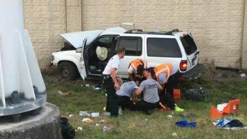 șofer minor accident