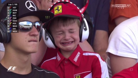 Kimi Raikkonen a făcut un copil să plângă la Barcelona