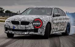 Noul BMW M5 cu 608 CP, testat la limită pe circuit