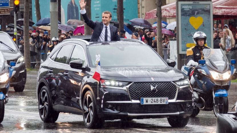 Emmanuel Macron DS7 Crossback