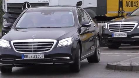 Mercedes S-Class facelift, pentru prima dată pe stradă