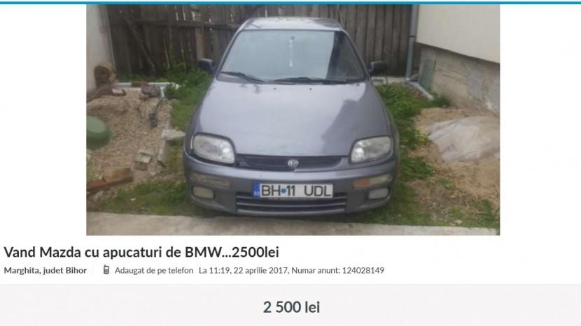 Anunturi Mazda cu apucaturi de BMW