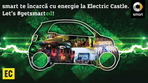 Electric Castle 2017: Smart electric drive este mașina oficială