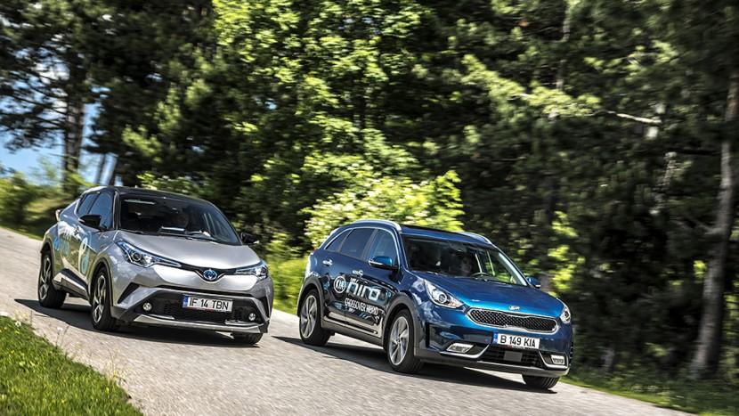 Kia Niro 1.6 GDI HEV DCT vs Toyota C-HR 1.8 VVT-i Hybrid