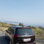 Opel Zafira privește marea. Dar încă nu ajunsesem la destinație.