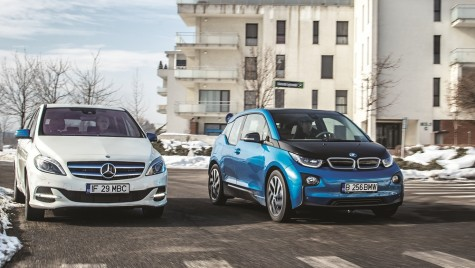 Test BMW i3 94 Ah vs Mercedes B 250 e – David vs. Goliat