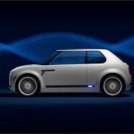 Honda Urban EV Concep siluetă de inspirație Civic.