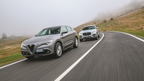 Test comparativ: Alfa Stelvio vs Jaguar F-Pace