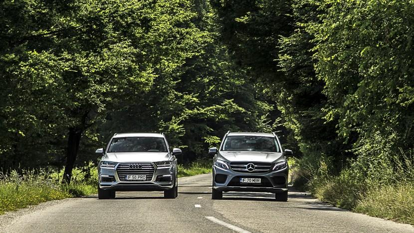Mercedes-Benz GLE 500 e vs Audi Q7 e-tron (2)