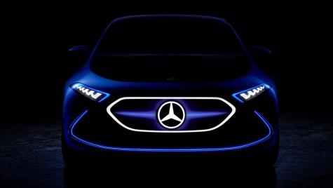 Mercedes EQ A Concept își arată fața înaintea debutului de la Frankfurt