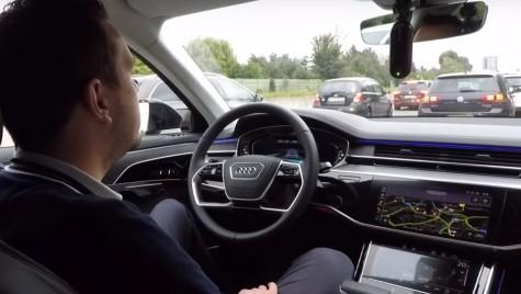 Audi A8: Sistemele de conducere autonomă testate în trafic