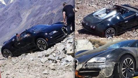 Bugatti Veyron Vitesse plonjează în gol, în munții Anzi