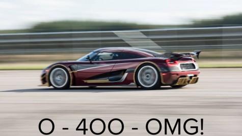 Koenigsegg Agera RS doboară recordul 0-400-0 km/h al lui Bugatti Chiron
