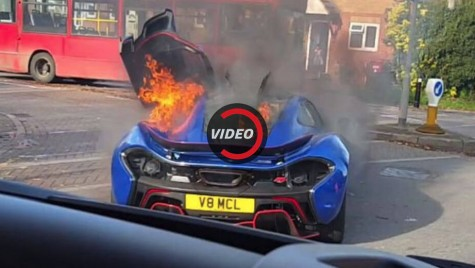 VIDEO: Un McLaren P1 ultra-rar arde ca o torță