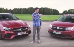 David versus Goliat. Dacia Logan MCV se ia la trântă cu Mercedes-AMG E63 S