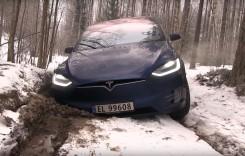 Off-road cu SUV-ul Tesla? Mai bine stătea acasă!