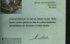 Majestatea sa Regele Mihai a lăsat o pagină de istorie în AutoExpert