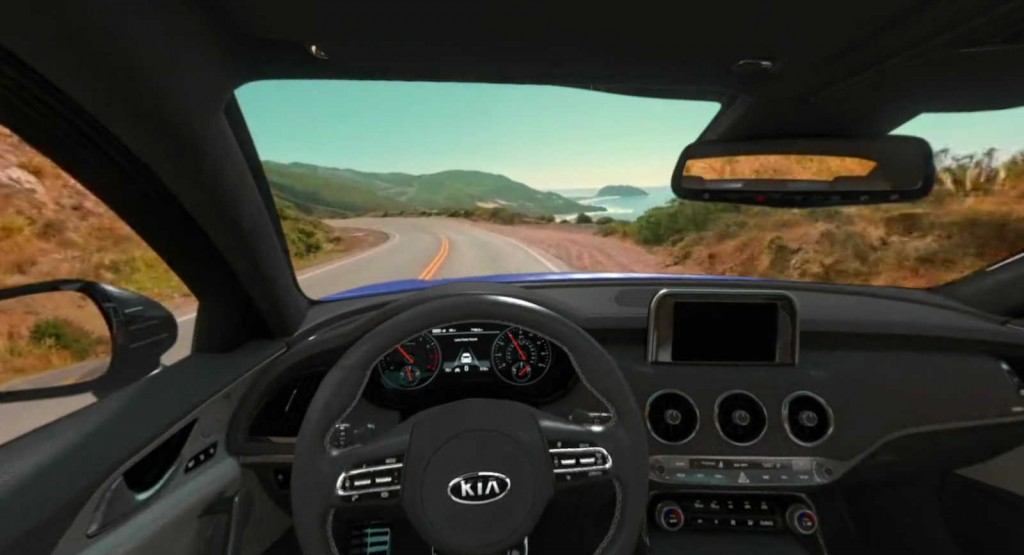 Kia Stinger Virtual Reality Test Drive