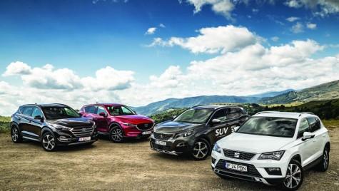Comparativ SUV-uri compacte: Hyundai Tucson vs SEAT Ateca vs Mazda CX-5 vs Peugeot 3008