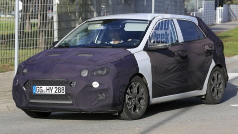 Hyundai i20 facelift, surprins în primele fotografii spion