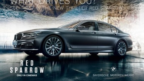 """BMW Seria 7, alături de Jennifer Lawrence în noul film """"Red Sparrow"""""""