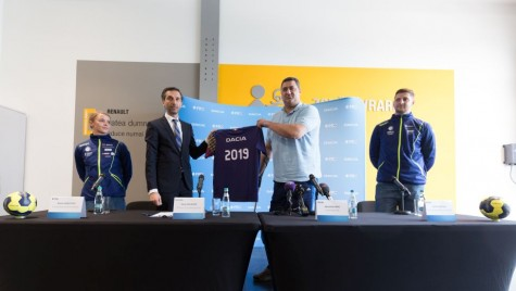 Dacia, partener tehnic pentru naționalele de handbal seniori
