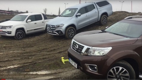Test video: Noul Mercedes X-Class vs Nissan Navara, VW Amarok
