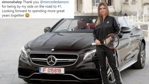 Simona Halep a primit o decapotabilă de 93.000 de euro