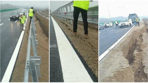 Autostrada Sebeș-Turda are iar probleme! Lotul 4 a crăpat înainte de a fi inaugurat