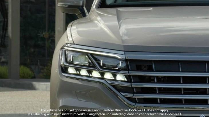 Viitorul Volkswagen Touareg arătat într-un teaser video