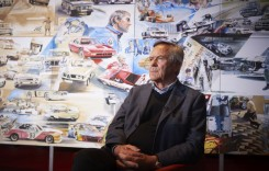 Pictură gigant dedicată lui Jochen Neerpasch, fondatorul BMW M