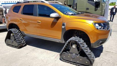 Dacia Duster șenilată, în centrul atenției la Black Sea Defense & Aerospace – 2018