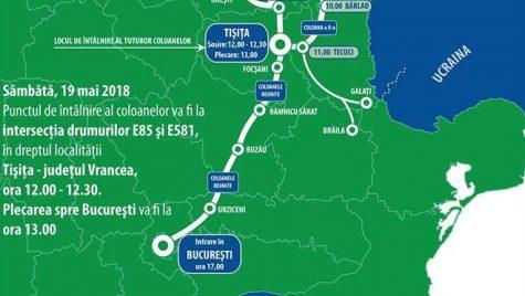 Protest motorizat pentru autostrăzile din Moldova