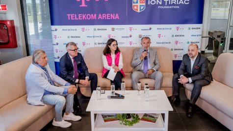 Patinoarul Țiriac – Telekom Arena a prezentat echipele de hochei juniori înființate cu suportul sponsorilor: Telekom, Dedeman, Skoda, Allianz-Țiriac și Simona Halep