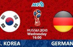 World Cup 2018- Meciul 41: Avancronică Coreea de Sud-Germania