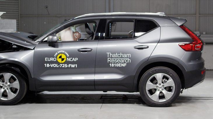 Volvo XC40 a primit 5 stele la testele de impact Euro NCAP