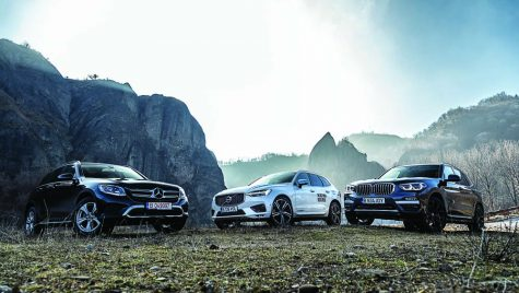 Test comparativ: BMW X3, Mercedes GLC și Volvo XC60